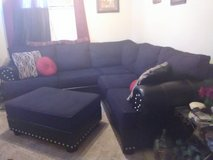 Black sectional couch with Ottoman in Lawton, Oklahoma