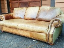 Beautiful Bassest Leather Couch in Tacoma, Washington
