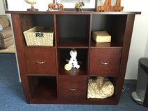 Gorgeous, dark solid wood desk and bookcase in Ramstein, Germany