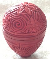 Chinese Carved cinnabar lacquer red in Okinawa, Japan