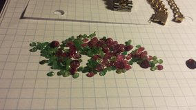 Loose good quality rubies and emeralds - sold as a lot in Tinley Park, Illinois