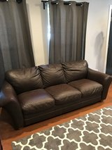 Brown Leather couch & loveseat in Plainfield, Illinois