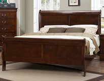 NEW Wood Queen Sleigh Bed in Beaufort, South Carolina