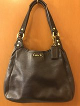 Black Leather Coach Purse in Yorkville, Illinois