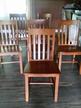 Dining room or kitchen chairs - set of 6 in great condition in Naperville, Illinois