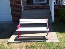 Childrens bench in Fort Campbell, Kentucky