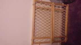 wood baby gate in Yucca Valley, California
