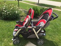 Chicco double stroller in Lockport, Illinois