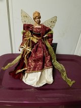 Christmas angel tree topper in Fort Drum, New York