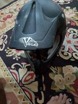 Vega dirt bike helmet with size 12 boots in Kingwood, Texas