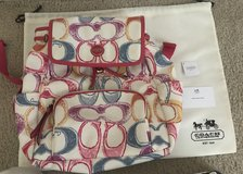 Coach authentic back pack with coach silk bag in Spring, Texas