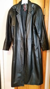 Long black leather coat in Elgin, Illinois