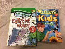 2 Books- Extreme Nature and Farmer's Almanac for kids in Okinawa, Japan