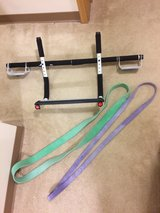 Pull Up/Workout Bar Plus 2 Assist Pull Up Bands in Okinawa, Japan