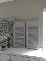 Vintage Shutters done in gray in Kingwood, Texas