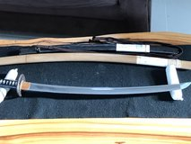Katana  by  Kanemichi in custom Koshirae along with Tsunagi and  Shirasaya in Okinawa, Japan