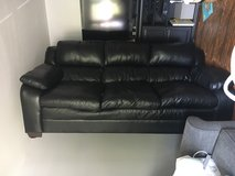 Black pleather couch in Bolling AFB, DC