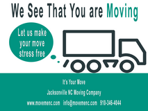 ***Moving Soon?***August Moving Special - Don't Miss It in Camp Lejeune, North Carolina