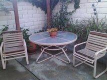 vintage patio set (6 chairs and table) - in oceanside in Oceanside, California