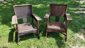 Wicker brown rocking chairs in Naperville, Illinois