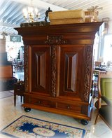 timeless Dutch bar cabinet with beautiful carvings in Spangdahlem, Germany