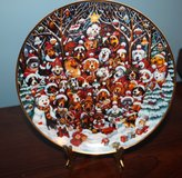 Santa Paws Plate with stand in Fort Campbell, Kentucky