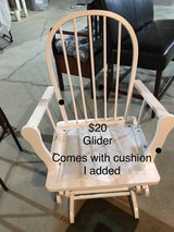 Glider without original cushion in Belleville, Illinois
