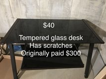 Tempered glass desk in Belleville, Illinois