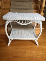 White Wicker Table in Naperville, Illinois