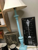 Turquoise lamps in CyFair, Texas