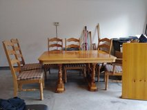 Broyhill Pine Table with 6 chairs in Fort Gordon, Georgia