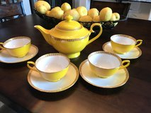 Teavana Noble Poppy Yellow and gold Bone China Tea Set in Vacaville, California