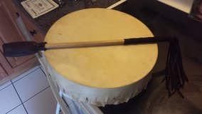 "Hand Made, Hand Forged Native Hand Drum made and bought locally in Ottawa IL 13.5"" PRICE LOWERED... in Tinley Park, Illinois"