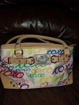 White purse with multi colors in Kingwood, Texas