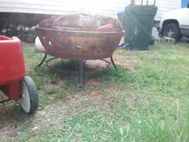 Fire pit with removable lid in Lake Charles, Louisiana