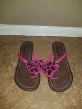 Mauve bead sandals in Spring, Texas