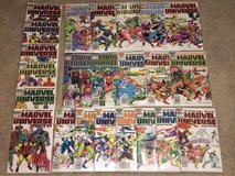 Lot Of VINTAGE Comics. Marvel Universe Issues 1-17 Complete (1985-1987) And 1989 Updates Issues ... in Valdosta, Georgia