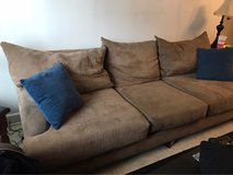 Tan microfiber couch in Fort Campbell, Kentucky