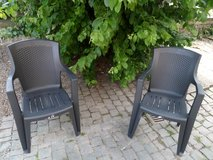 2 outdoor chairs+2 new turquoise cushions in Baumholder, GE