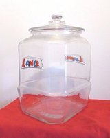 Vintage Lance Cookie or Cracker Original Advertising Sign Counter-Top Display Jar  from the 60's in Cherry Point, North Carolina