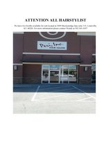 Hairstylist Booths avaliable in Lousiville in Fort Knox, Kentucky