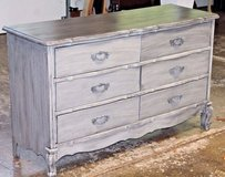 Beautiful Vintage Gray Chalk Painted 6-Drawer Dresser, Antique Wash in Wheaton, Illinois