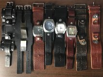4 Fossil watches with 8 interchangeable leather bands in Warner Robins, Georgia