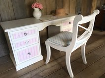 Upcycled Vintage Painted Shabby Chic Desk Dressing Table Complete with Coordinating Chair in Lakenheath, UK