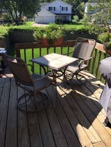 Small Patio Table Set w/2 chairs (includes cover) in Glendale Heights, Illinois