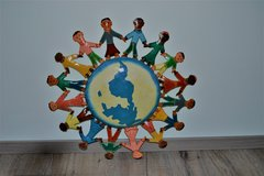 Metal Wall Hanging/Decoration Children around the World in Ramstein, Germany