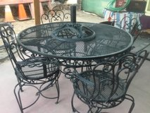 Wrought iron patio set( heavy) in Yucca Valley, California