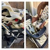 Stroller, car seat & 2 bases in Vacaville, California