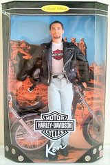 NIB 1998 Ken HARLEY DAVIDSON Barbie Doll COLLECTOR EDITION 22255 Motorcycle Bike in Kingwood, Texas