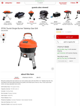 New in the Box, STOK Tourist Single Burner Tabletop Gas Grill in New Lenox, Illinois